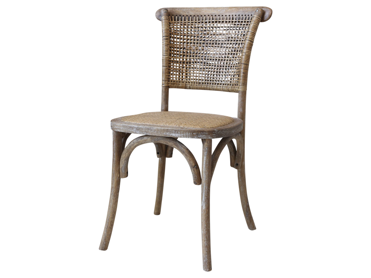 chic antique Chic antique fransk spisestol med fletsæde og ryg på boboonline.dk