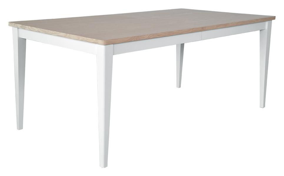 Image of   Asperø spisebord - natur/hvid, incl. 1 tillægsplade