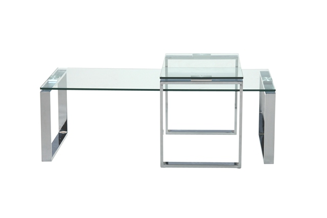 Katrine sofabord - Klar glas og metal