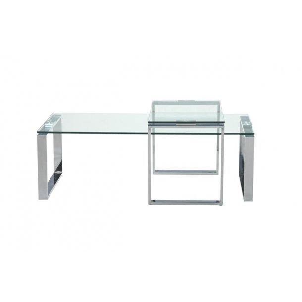 Katrine sofabord - Klar glas