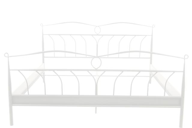 Line Sengeramme - Hvidt metal, (140x200)