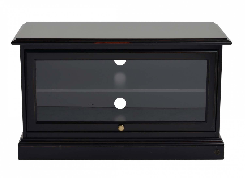 Image of   Leonardo TV-bænk - sort m. 1 glaslåge