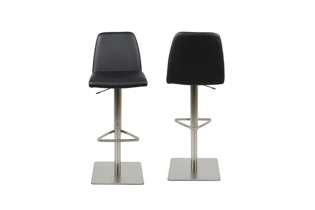 Billede af Amagi barstol - Sort læder PU, metalstel