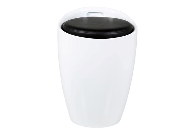 Image of   Minxie taburet - hvid/sort