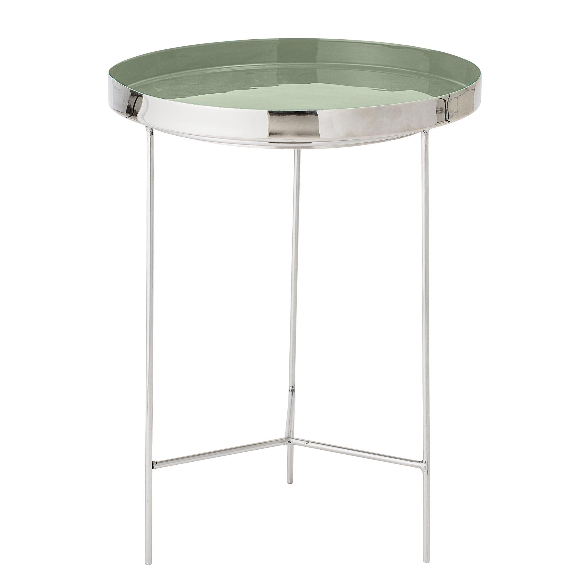 BLOOMINGVILLE Sola bakkebord - grøn/sølv aluminium/stål, rund (Ø40)