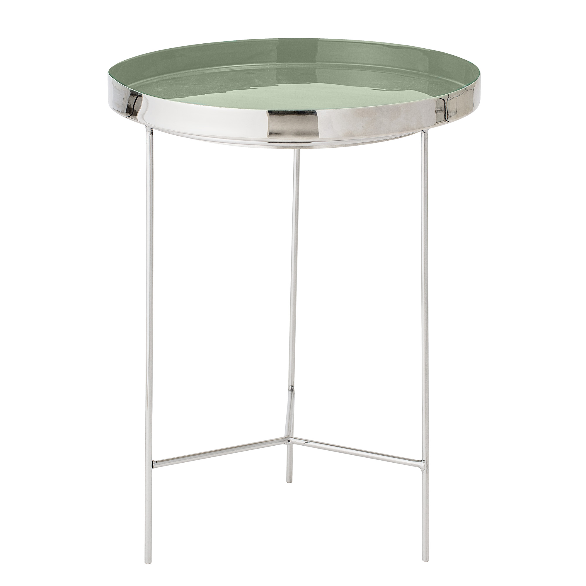 Bloomingville sola bakkebord - grøn/sølv aluminium/stål, rund (ø40) fra bloomingville fra boboonline.dk