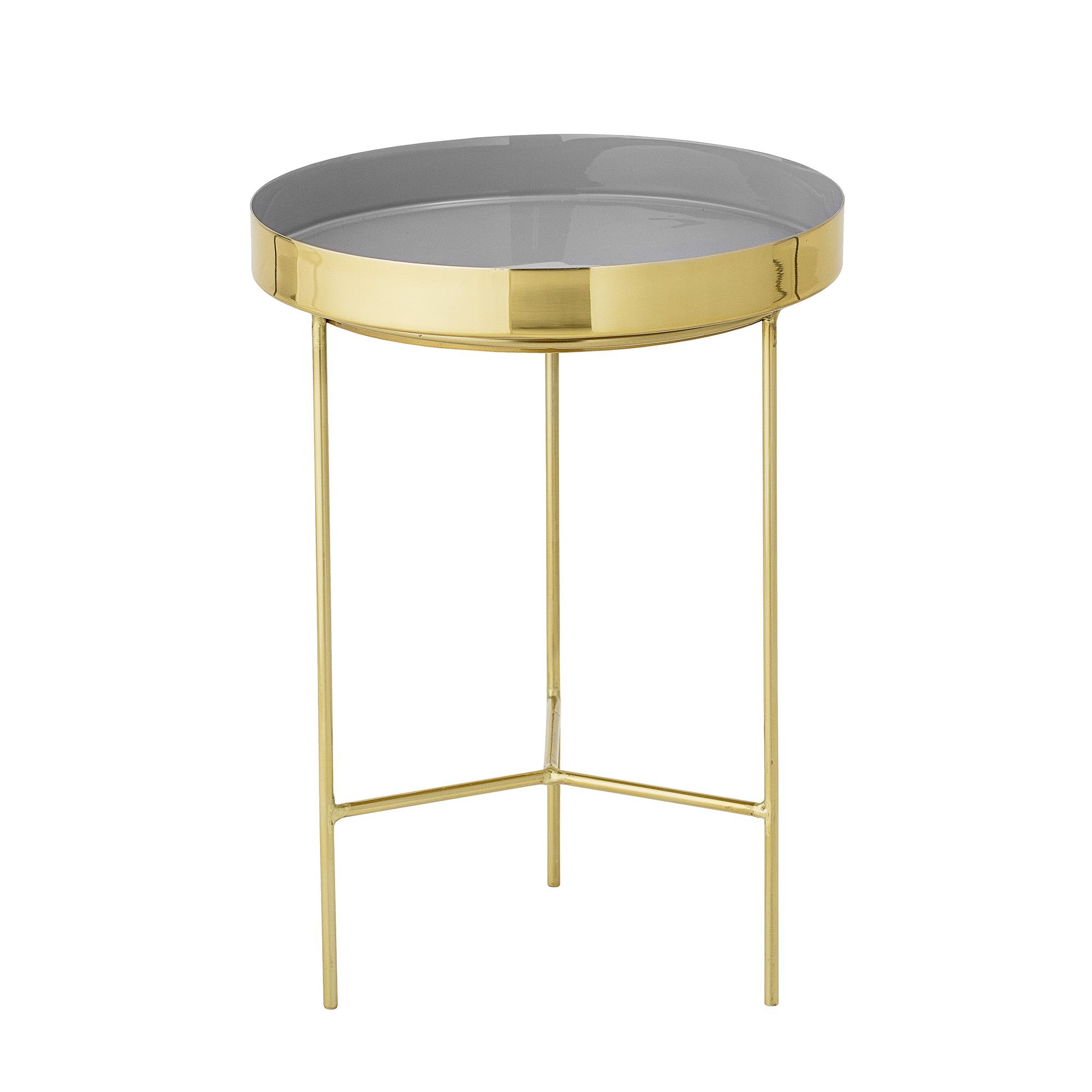 bloomingville Bloomingville sola bakkebord - grå/guld aluminium/stål, rund (ø30) fra boboonline.dk