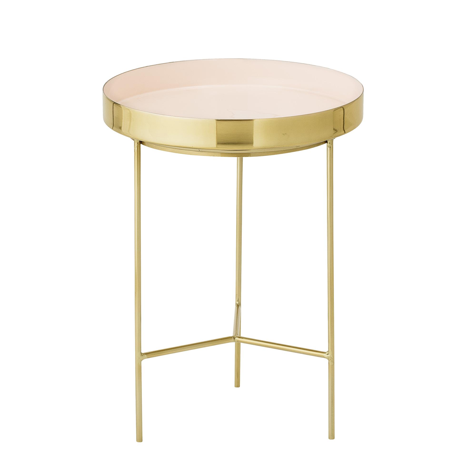 Bloomingville sola bakkebord - rosa/guld aluminium/stål, rund (ø30) fra bloomingville fra boboonline.dk