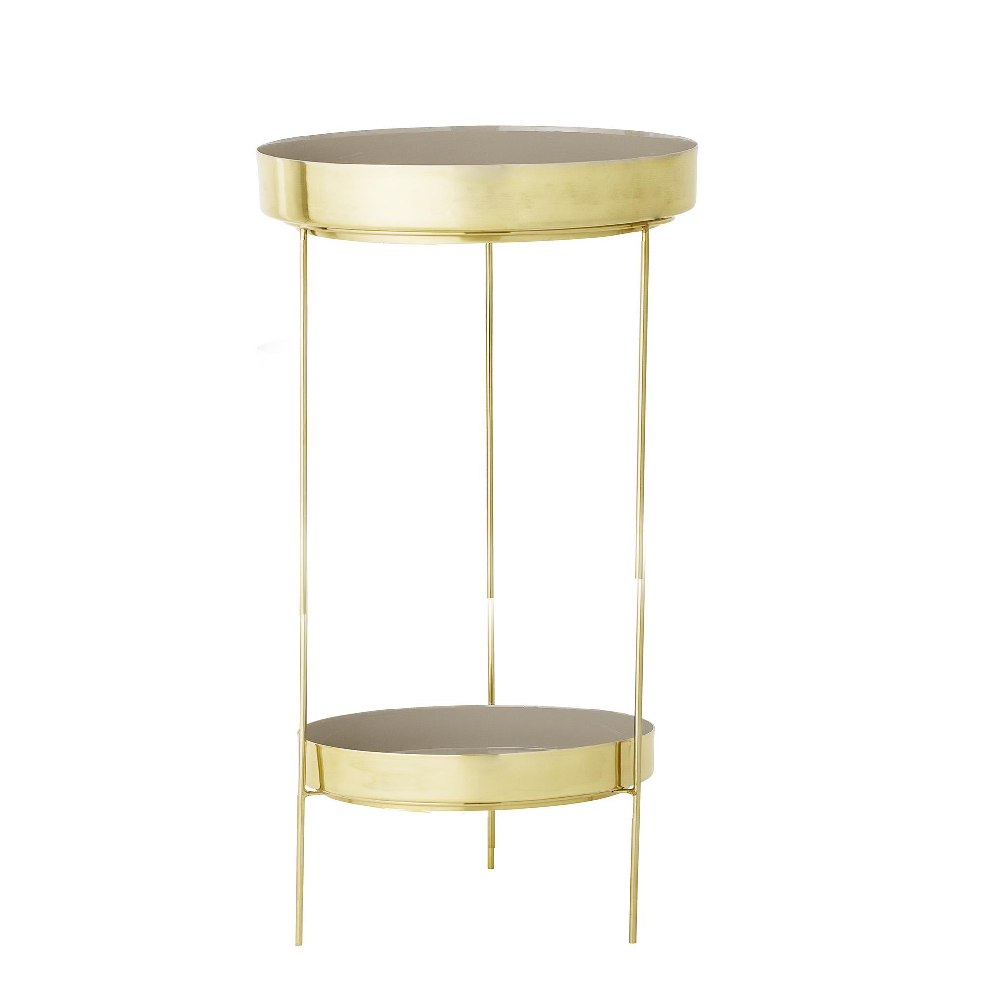 bloomingville – Bloomingville dos bakkebord - beige/guld aluminium/stål, rund, m. 2 bakker (ø43) fra boboonline.dk