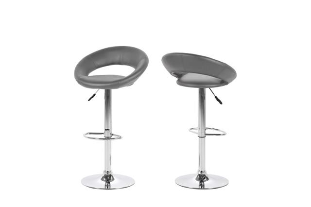 Billede af Plump barstol - grå