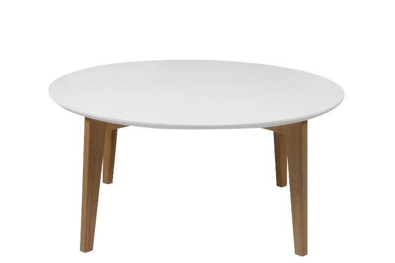 Image of   Abin sofabord - stel eg - hvid plade