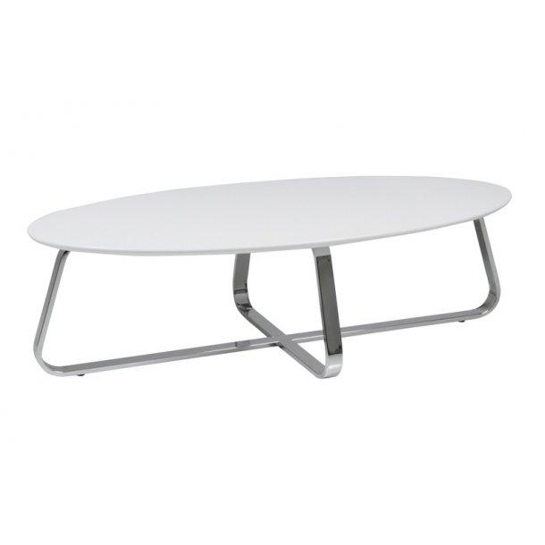 Konzit sofabord - Køb et hvidt sofabord med stålben