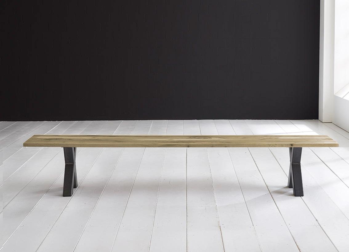 Concept 4 You Spisebordsbænk - Freja ben 220 x 40 cm 3 cm 05 = sand