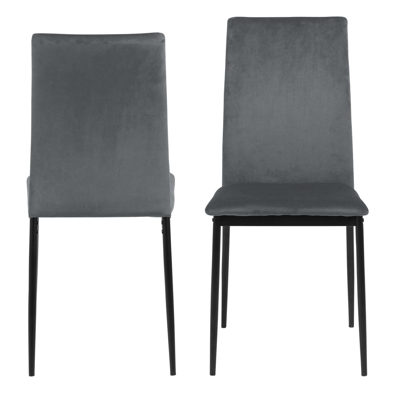 ACT NORDIC Demina spisebordsstol - mørkegrå polyester og sort metal