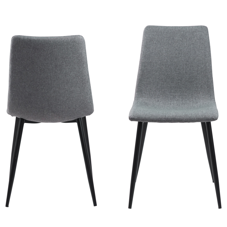 ACT NORDIC Winnie spisebordsstol - lysegrå polyester og sort metal