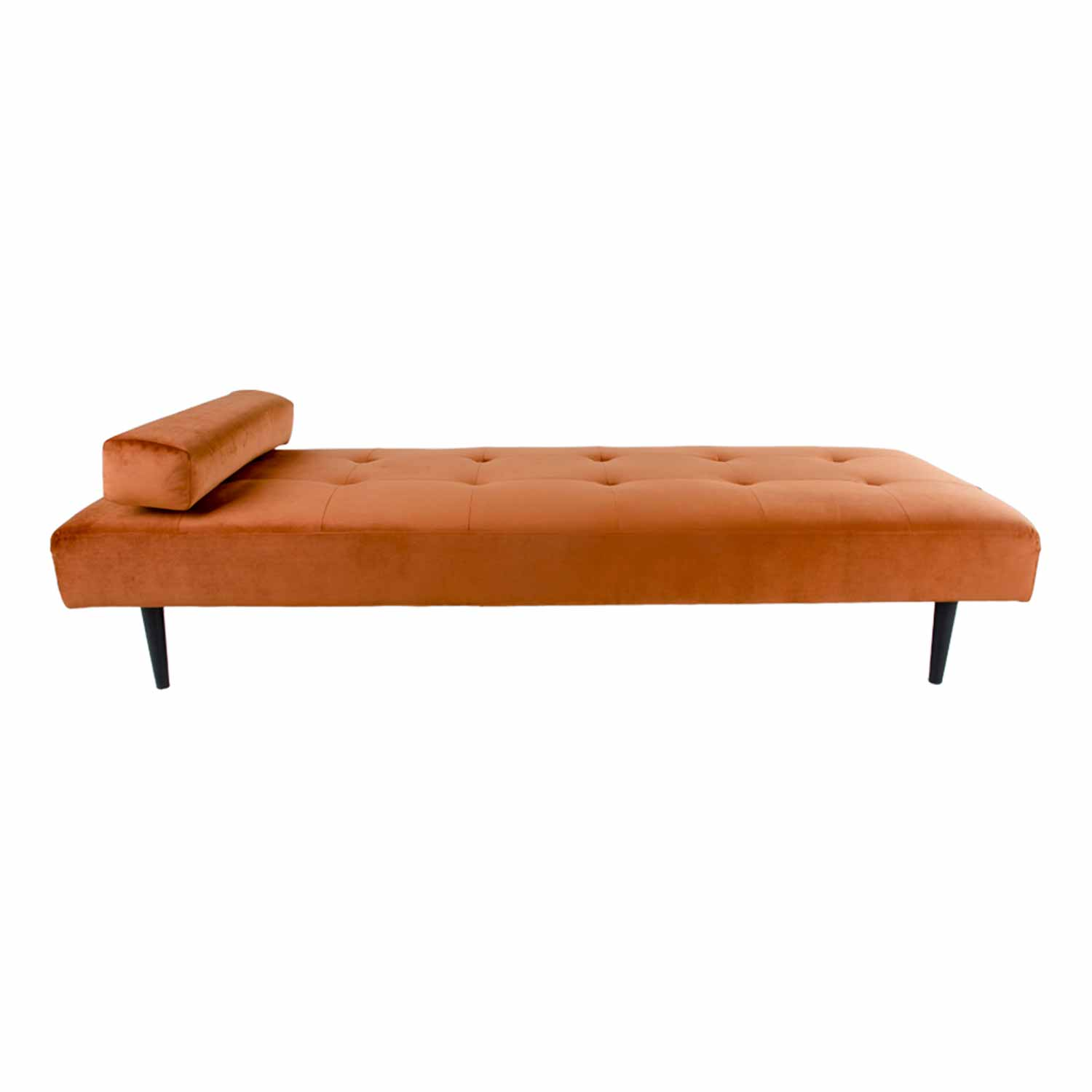 HOUSE NORDIC Capri daybed - orange velour/træ, inkl. pude