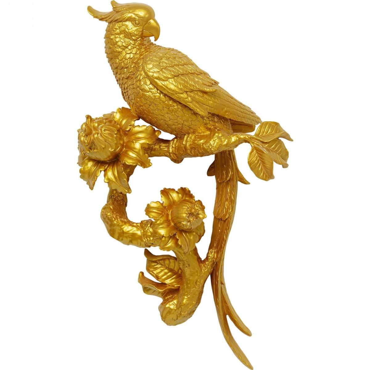 KARE DESIGN Parrot Gold vægdekoration - guld polyresin