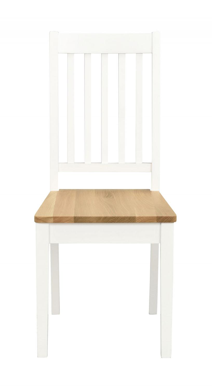 Ella spisebordsstol - Hvid/natur egetræ
