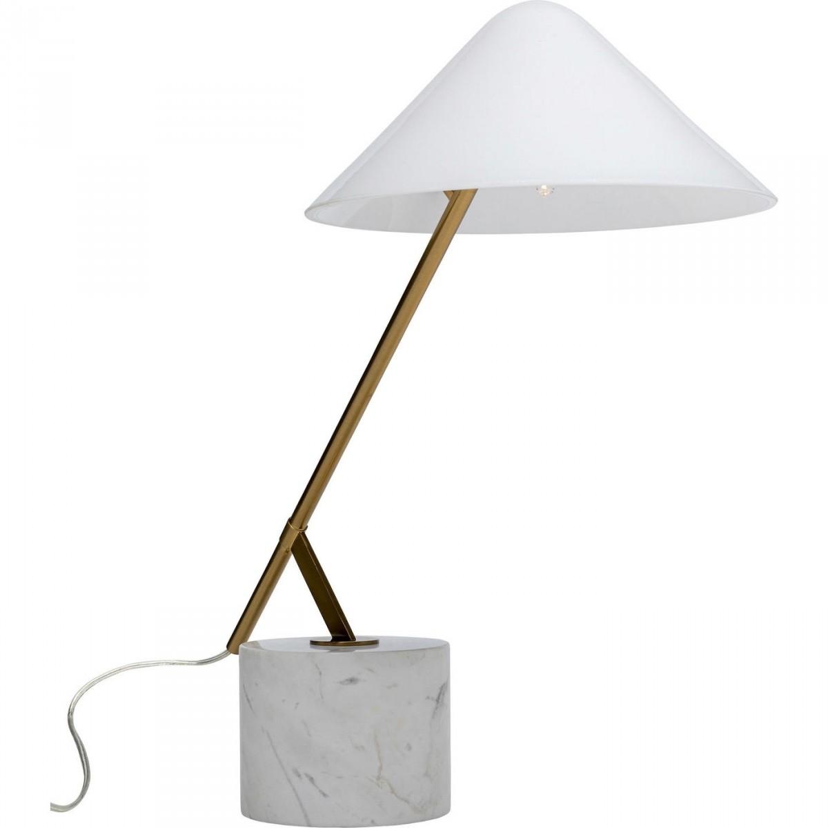 kare design Kare design soul marble bordlampe - hvid glas, marmor og messing stål (h:54cm) fra boboonline.dk