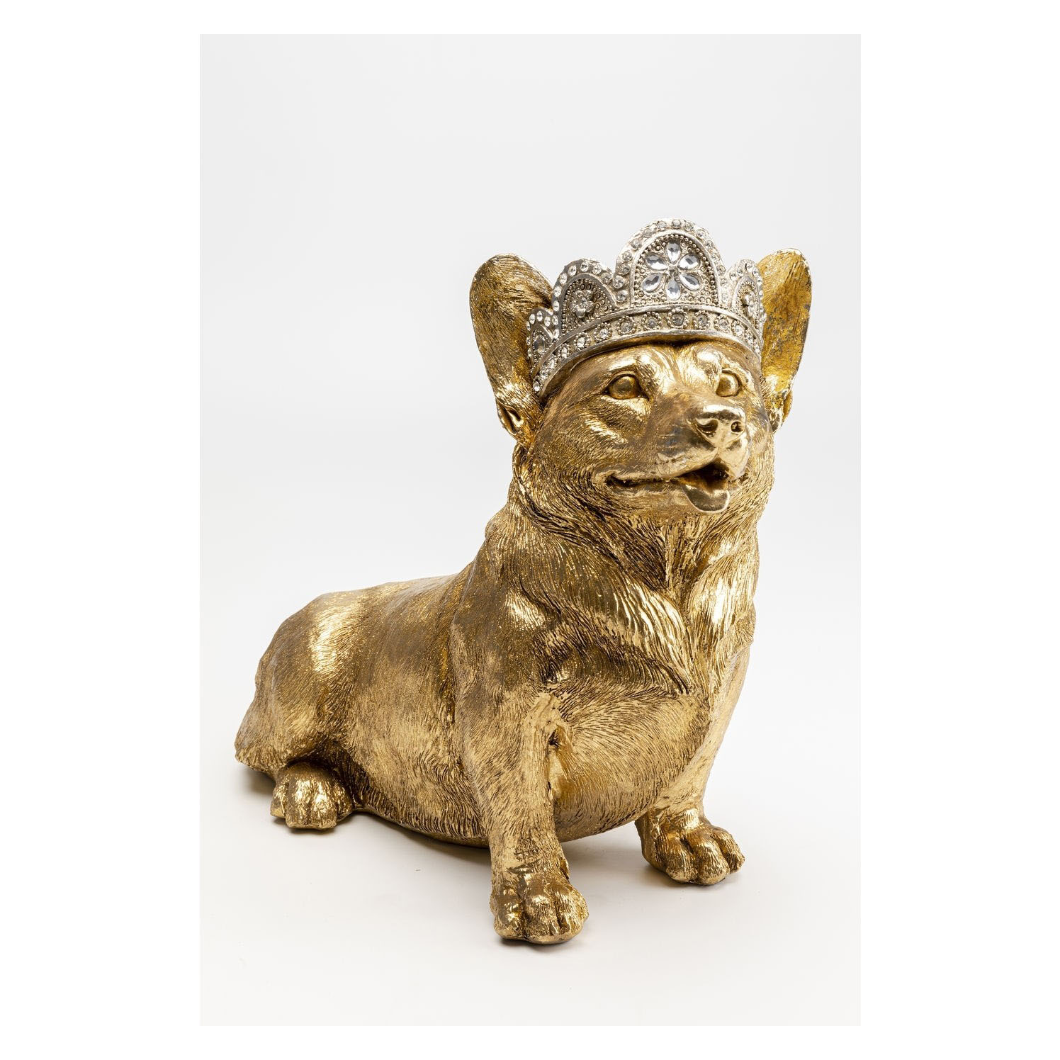 KARE DESIGN Royal Sitting Corgi skulptur - guld polyresin