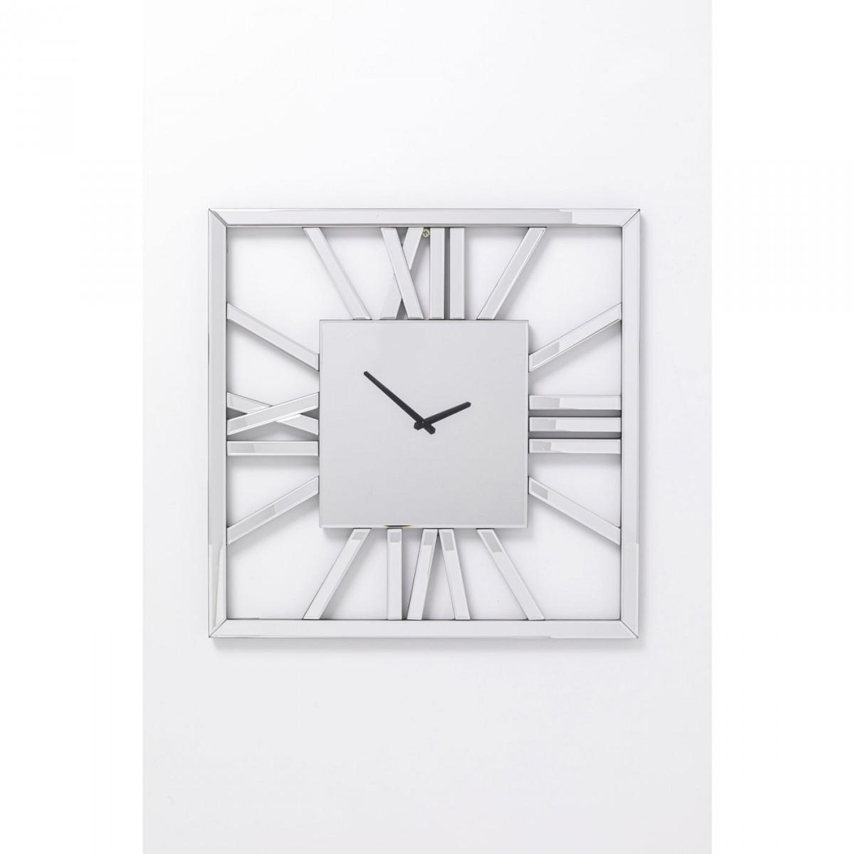 KARE DESIGN kvadratisk Specchio Square vægur - spejlglas (60x60)