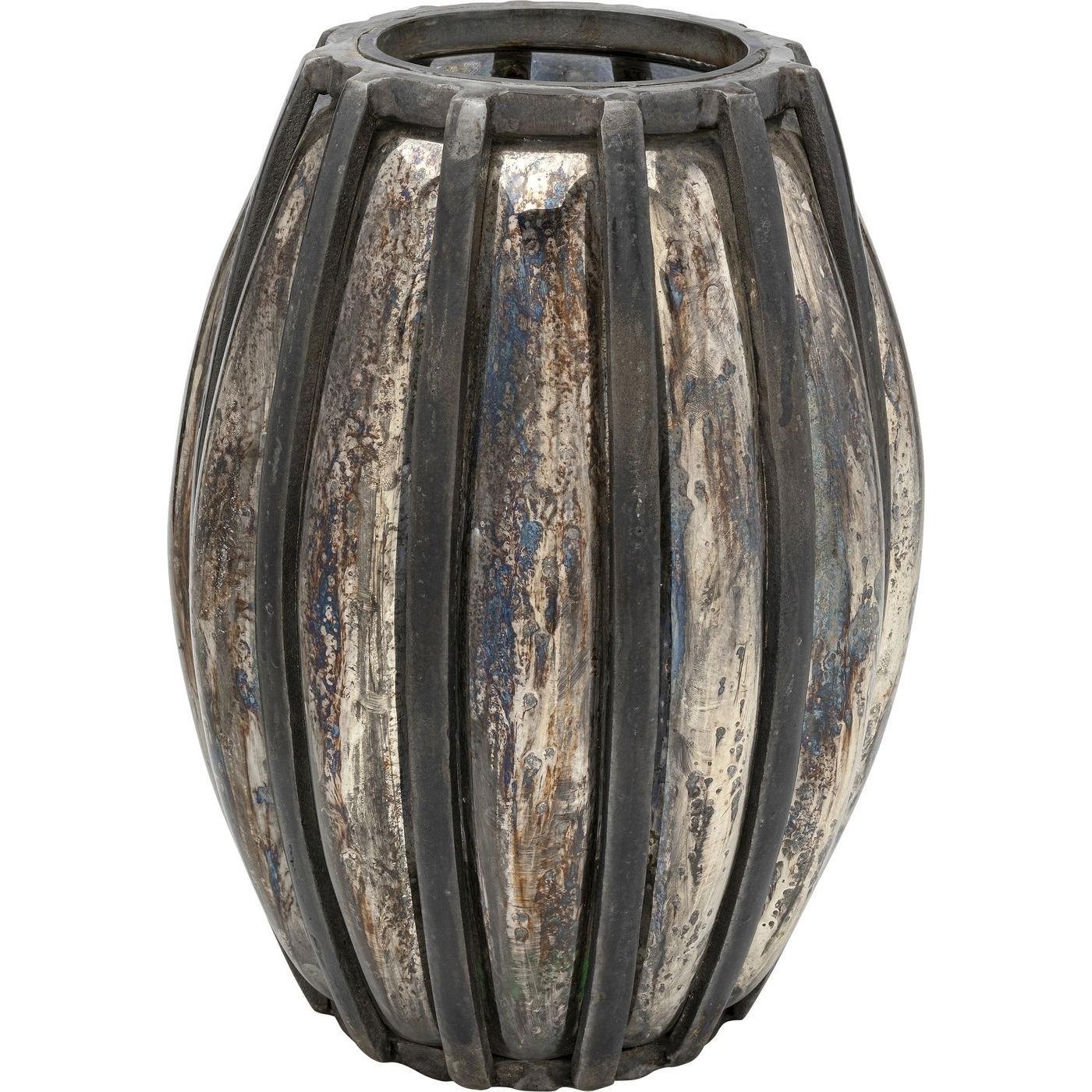 kare design – Kare design oval refled lanterne - glas m. børstet aluminium (h 42) på boboonline.dk