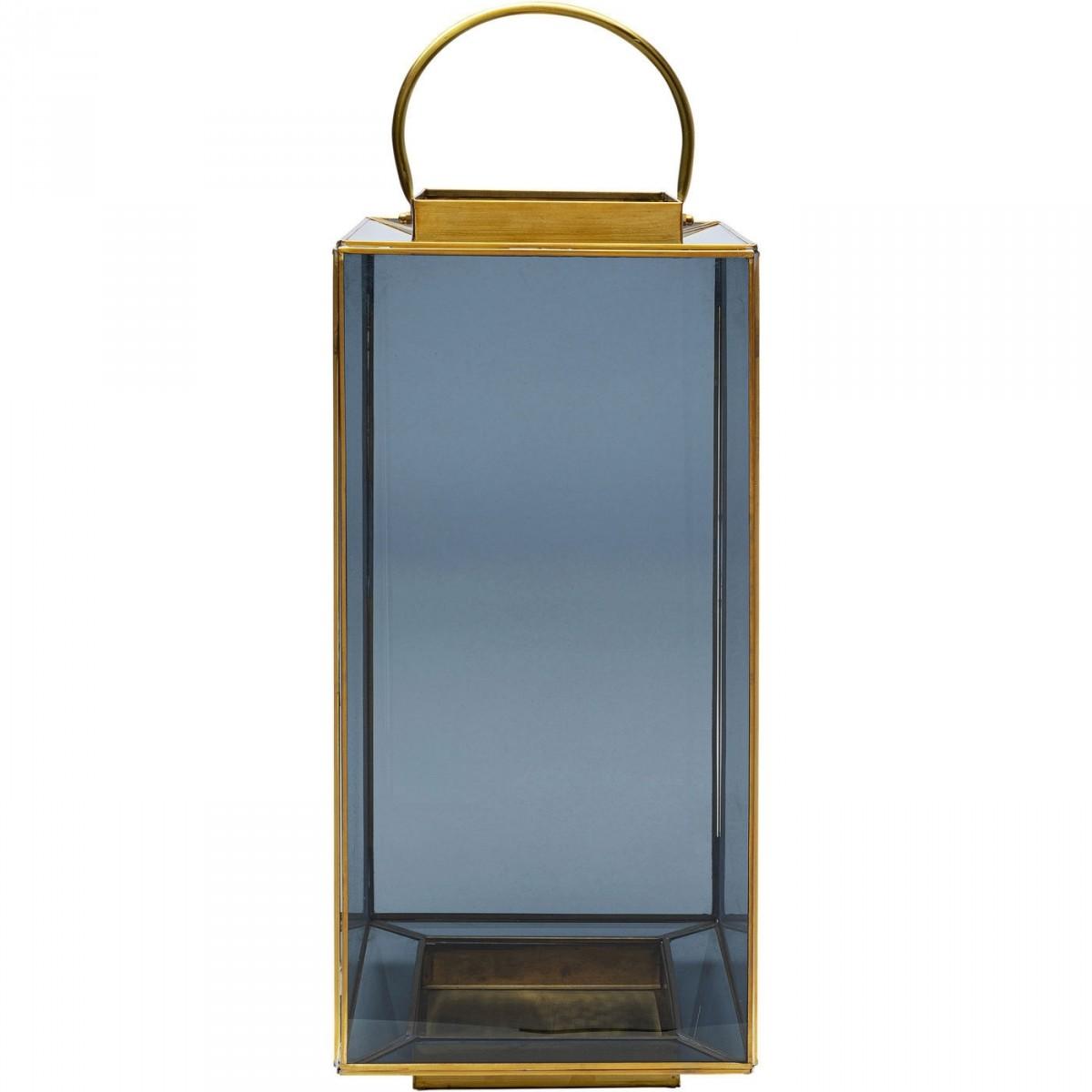 kare design Kare design kvadratisk noir big lanterne, m. hank - glas og messing fra boboonline.dk