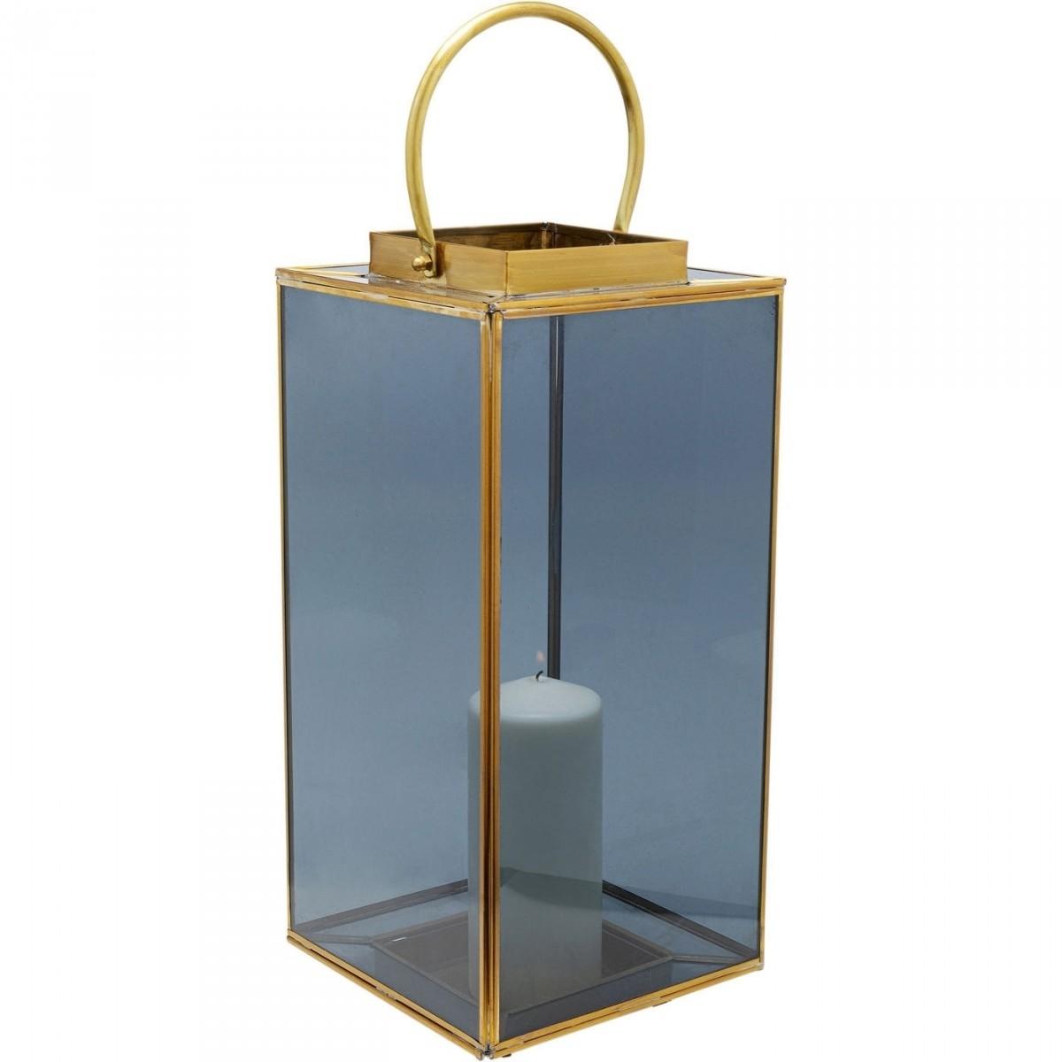 kare design Kare design kvadratisk noir small lanterne - glas og messing på boboonline.dk