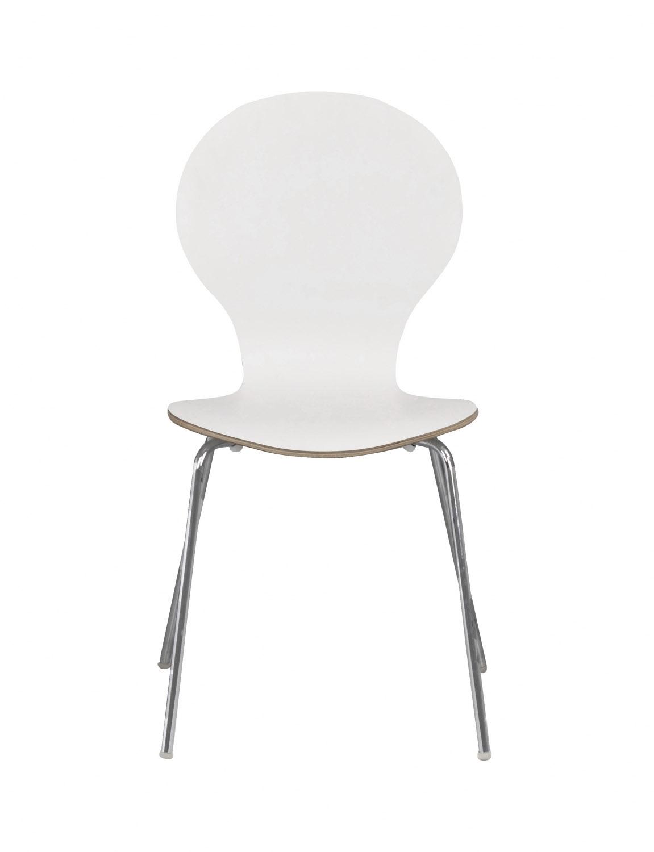 Fusion skalstol - hvid/krom