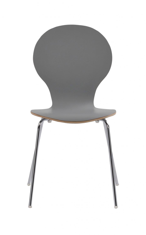 Fusion skalstol - lysegrå/krom