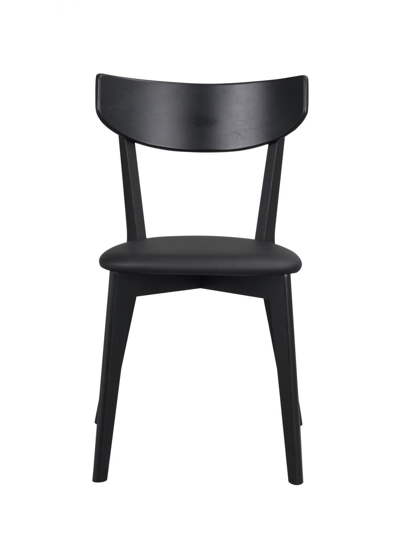 Image of   Ami spisebordsstol - sort PU læder og sort egetræ