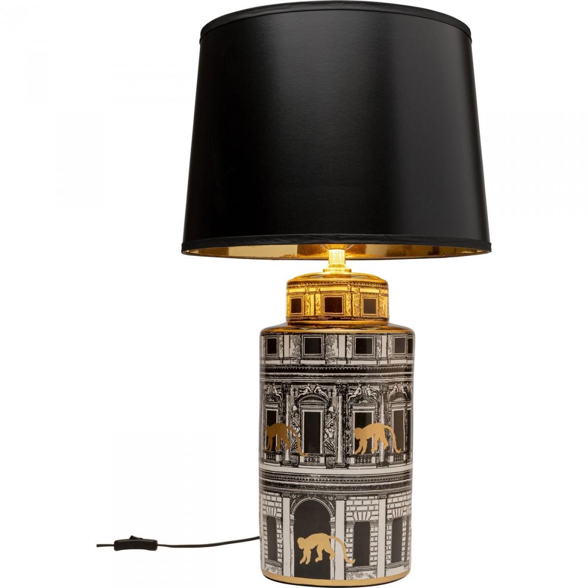 Kare design palazzo bordlampe - sort polyester og multifarvet keramik og porcelæn (h:72cm) fra kare design fra boboonline.dk