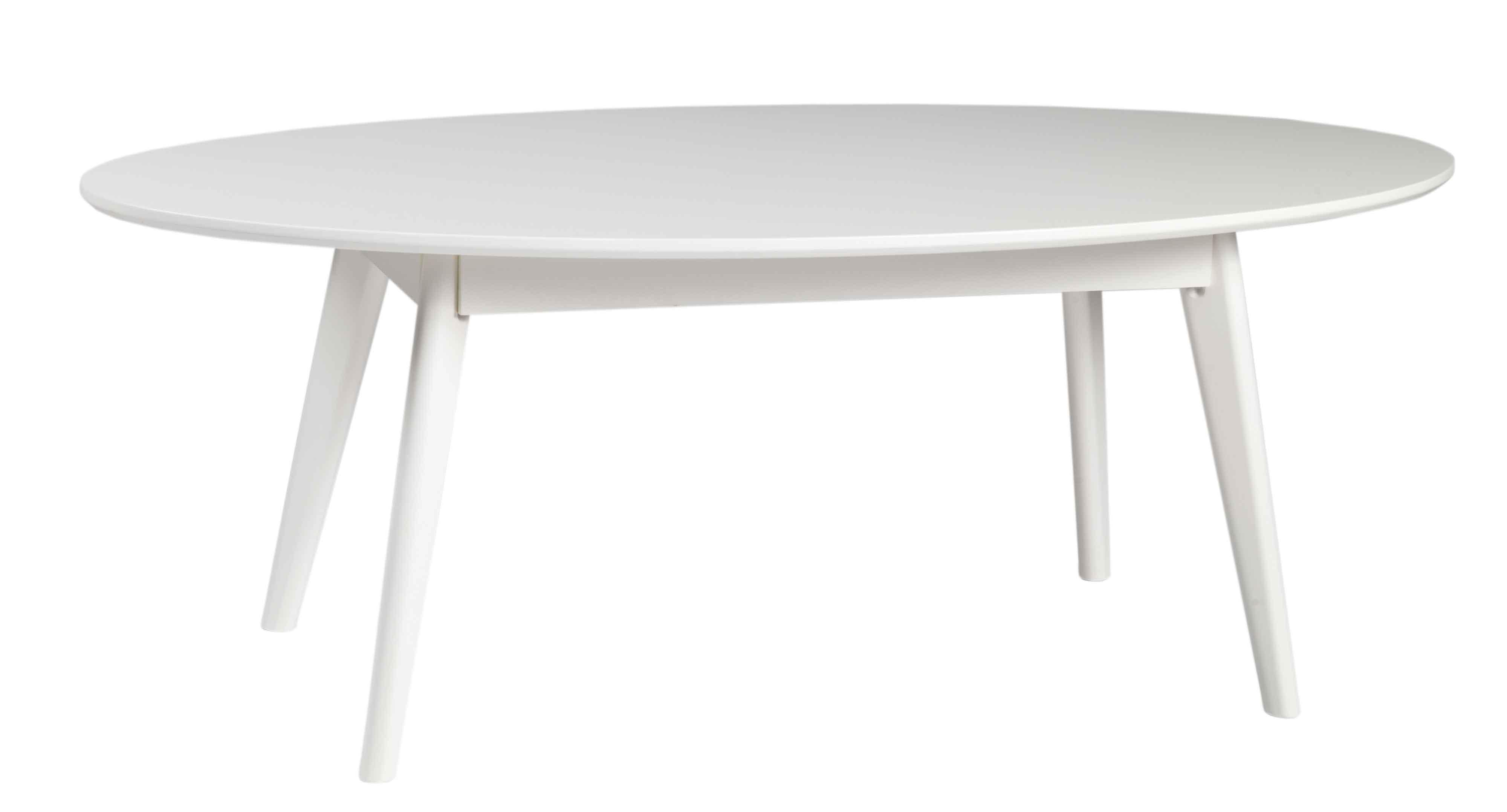 Yumi sofabord - Hvidt egetræ, ovalt
