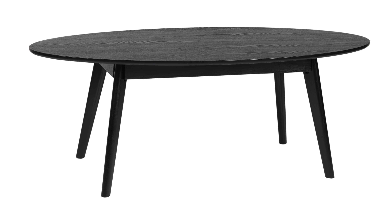 Yumi sofabord - Sort egetræ, ovalt