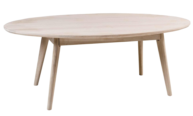 Yumi sofabord - Hvidpigmenteret egetræ, ovalt