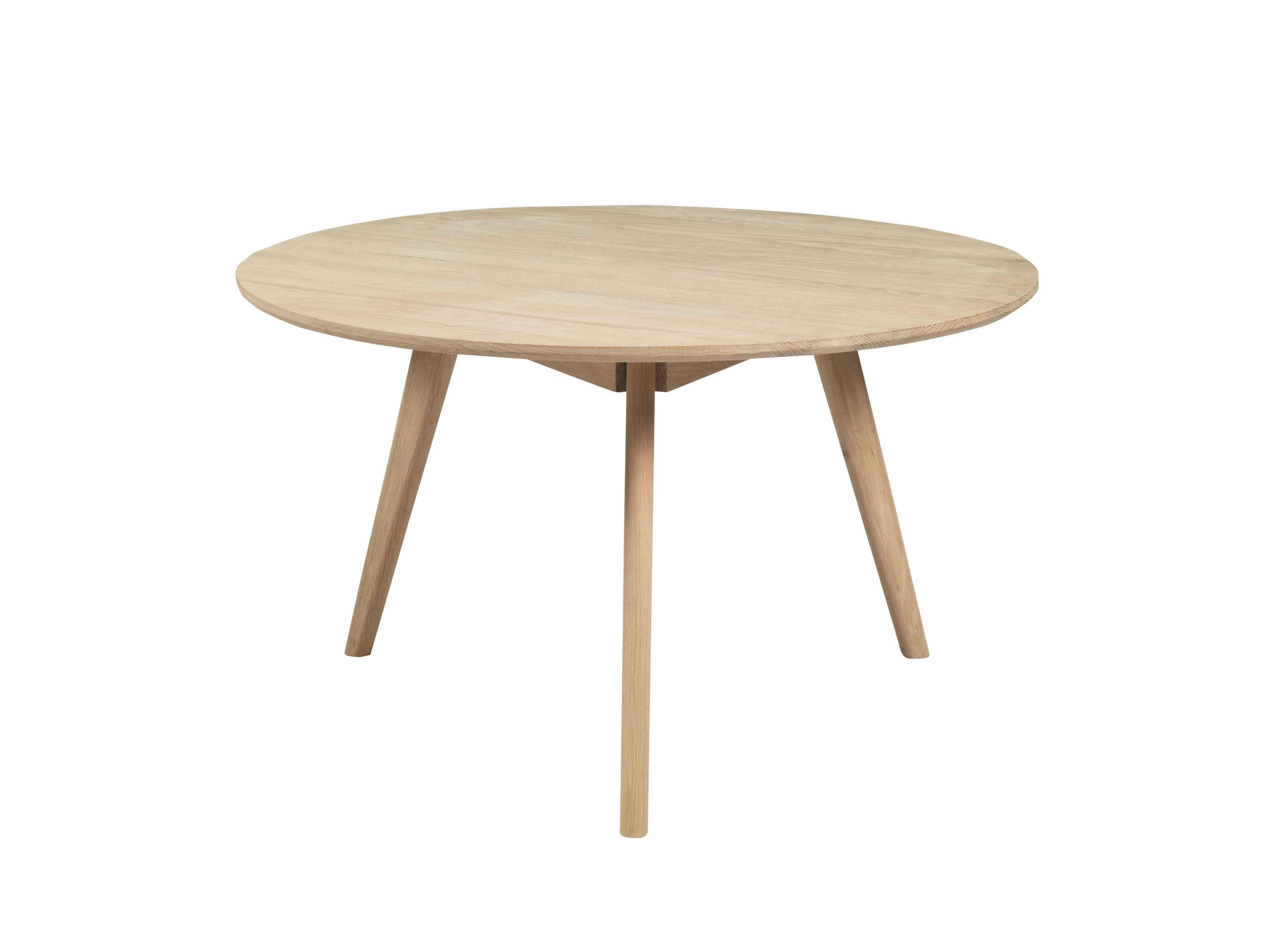 Yumi sofabord - Hvidpigmenteret asketræ, rundt (Ø:90)
