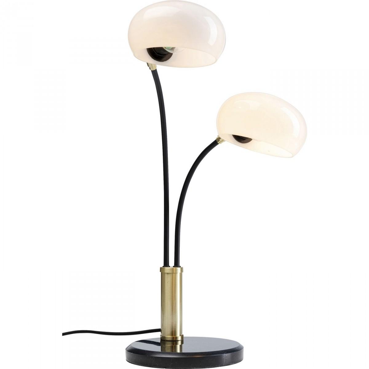 Kare design two fingers duo bordlampe - glas, sort marmor og messing stål (h:55cm) fra kare design på boboonline.dk