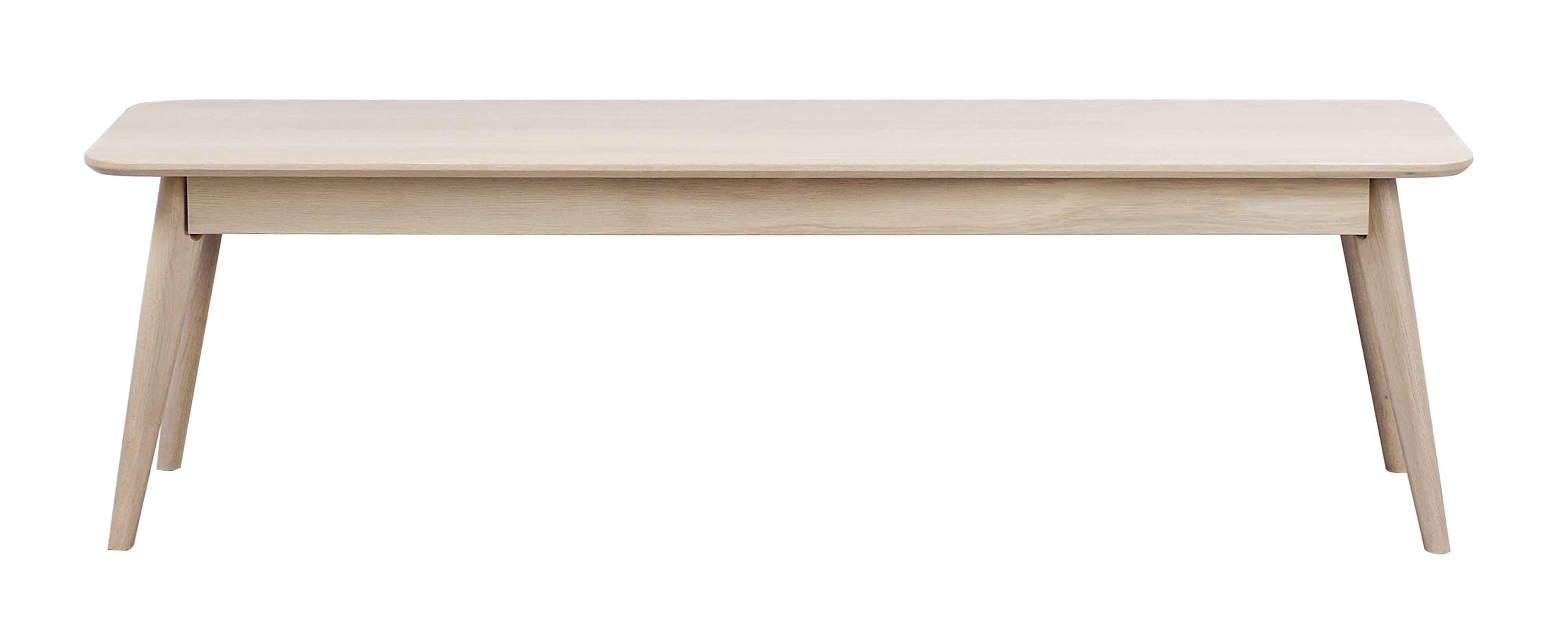Yumi spisebordsbænk - Hvidpigmenteret egetræ