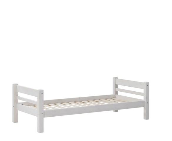 SCANLIVING Mojo seng, inkl. lamelbund - hvid træ, 90x200