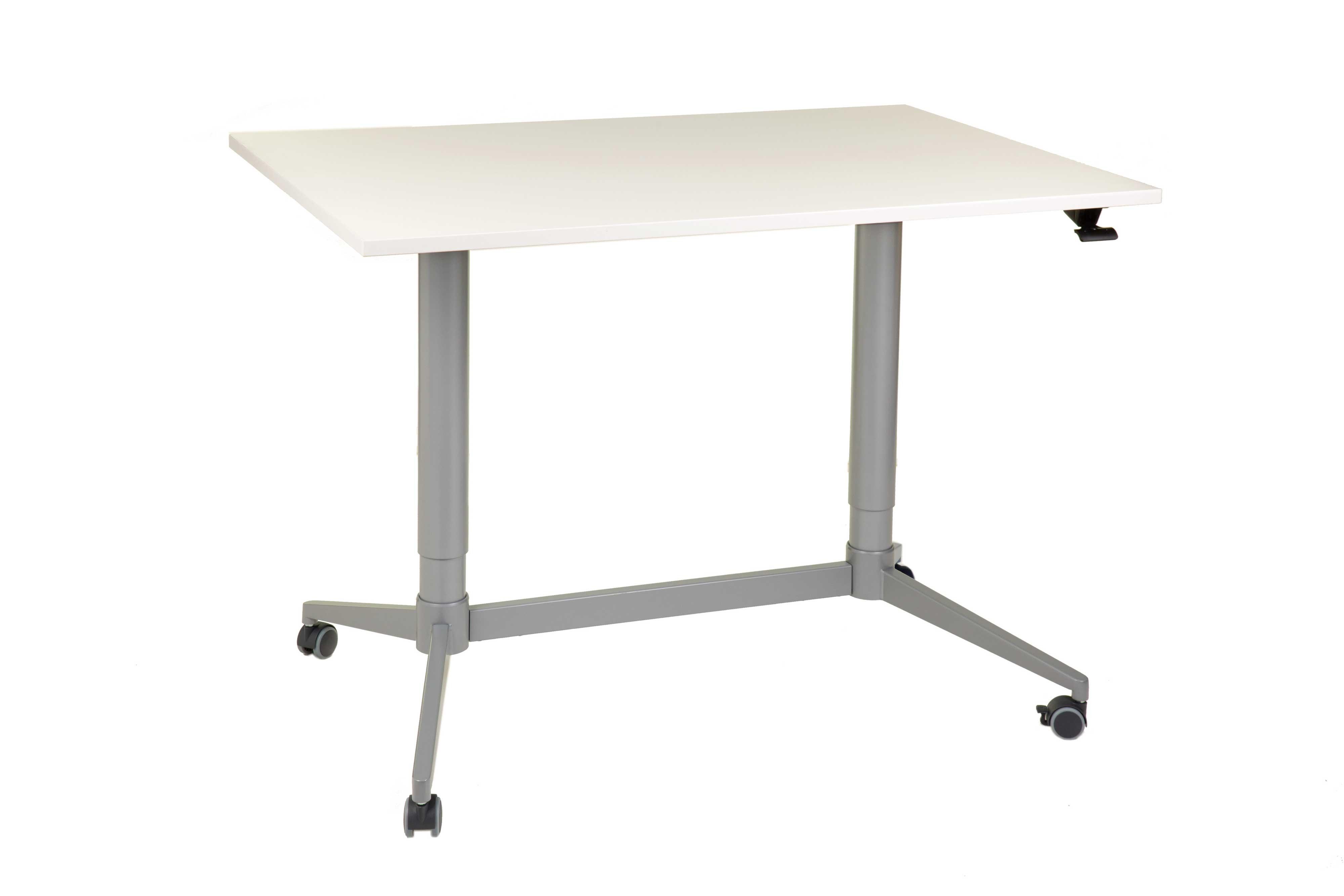 FTI Greenline Mono skrivebord - hvid laminat, m. hæve/sænke funktion (70x120)