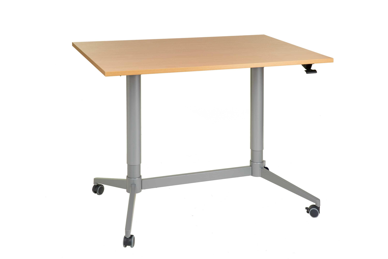 FTI Greenline Mono skrivebord - bøgetræ laminat, m. hæve/sænke funktion (70x120)