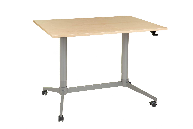 FTI Greenline Mono skrivebord - ahorntræ laminat, m. hæve/sænke funktion (70x120)