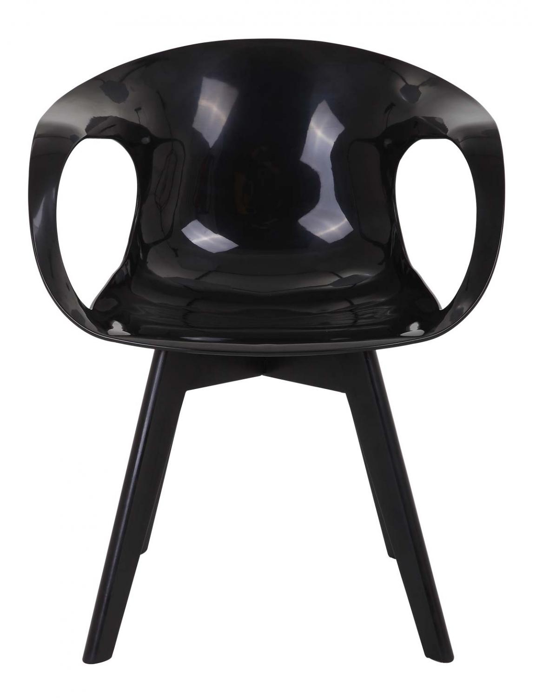 PREFORM Tomcat spisebordsstol - sort plastik og sort rubberwood, m. armlæn