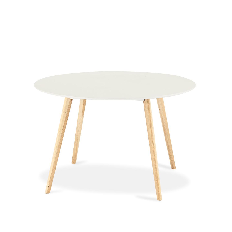 Life rund spisebord - hvid, natur egetræ (Ø120)