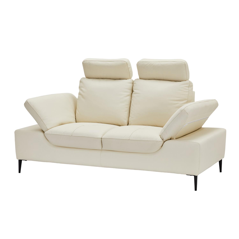 Victor 2 personers sofa - creme læder og metal