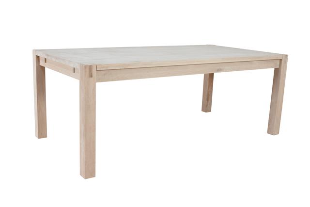 Oak spisebord - massiv eg, m. udtræk (200x100)