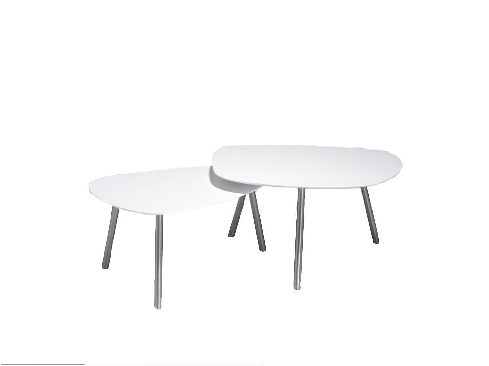 Image of   Malou sofabordssæt stor - lille bord: sort. stort bord: hvid: Efter aftale Nicolai