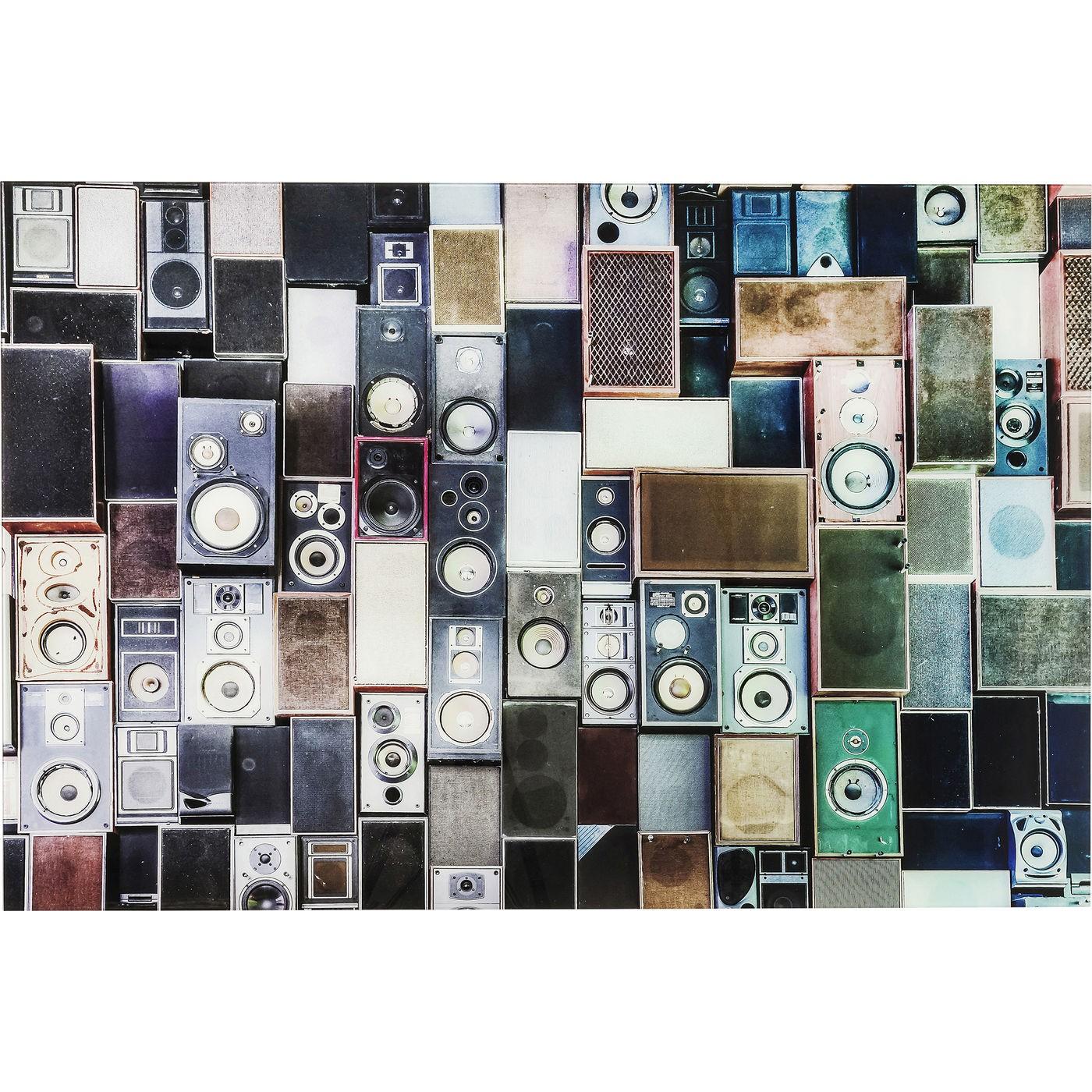 Image of   Billede Alu Speaker Box 80 x 120 cm