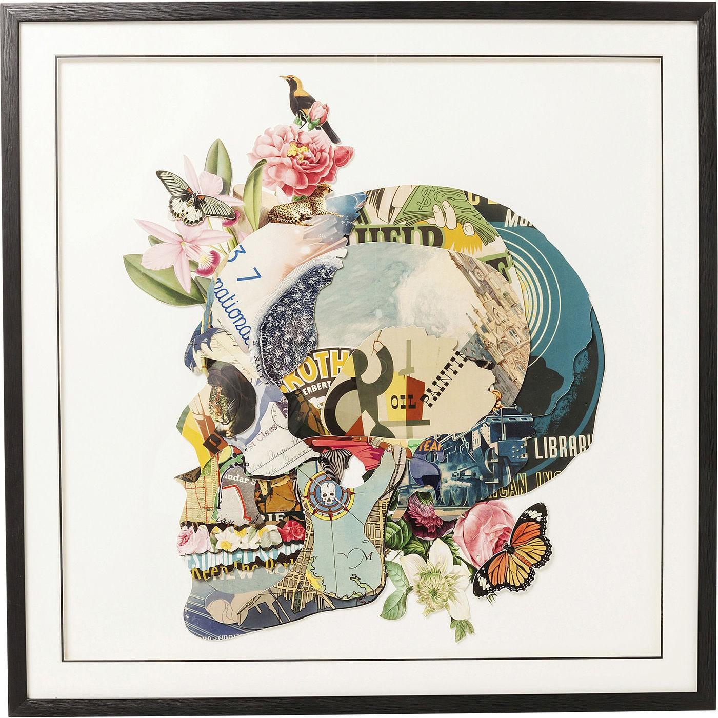Image of   Billede Frame Art Skull 100 x 100 cm