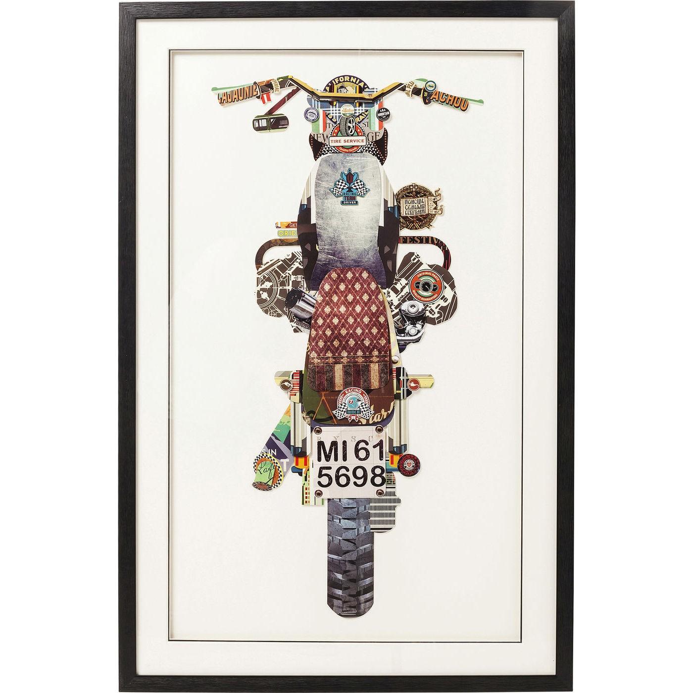 Image of   Billede Frame Art Motorbike 107 x 69 cm